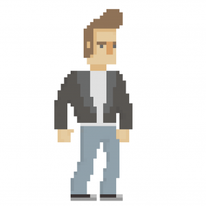 Pixel Greasers-style guy
